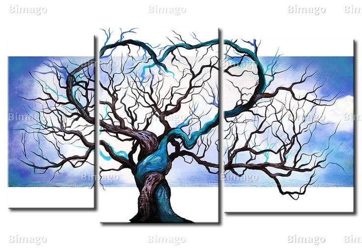 Der Baum der Liebe: Wall Art, Paintings On Canvas, Oil Paintings, Canvas Art, Oils, Oilpaint, Trees, Wooden Frames, Canvases