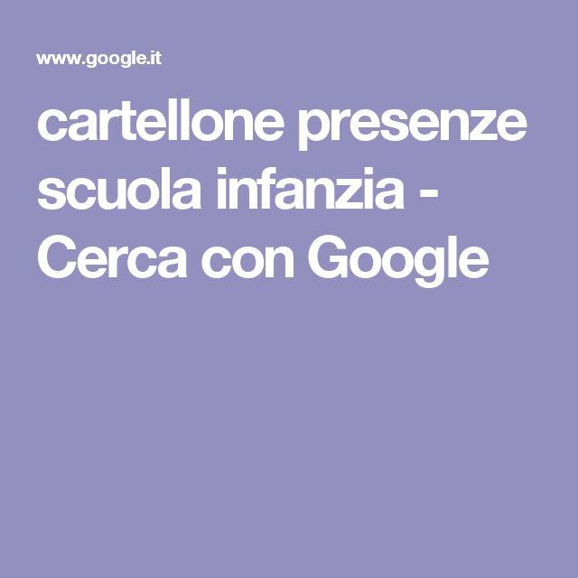 cartellone presenze scuola infanzia - Cerca con Google