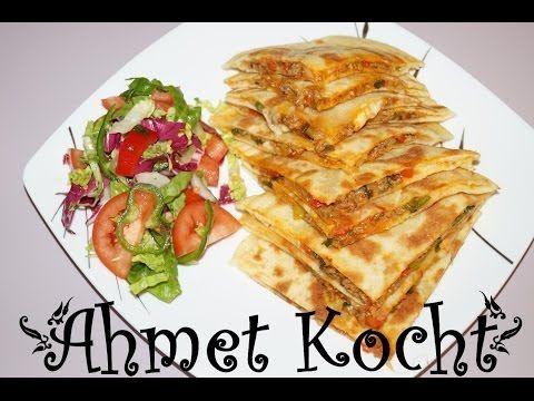 Rezept: Gözleme mit Hackfleisch und Mozzarella - AhmetKocht - Folge 72 - YouTube