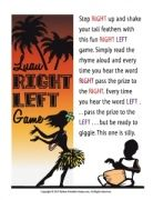 Luau Left-Right Game