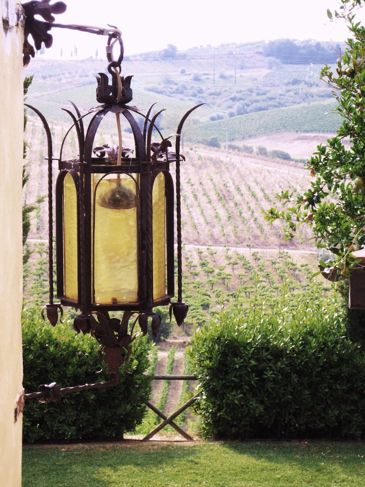 Medieval outdoor lantern at Casale di Valle, DaVinci Cantine, Vinci Italy -    To learn more about the  2012 DaVinci Storyteller Experience, visit my Italian American food & lifestyle blog, The Brooklyn Ragazza -> http://thebrooklynragazza.blogspot.com/