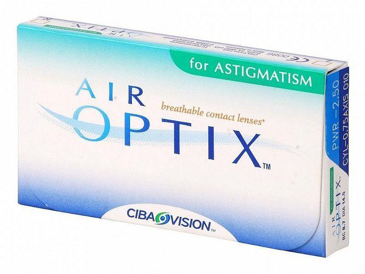 AIR OPTIX AQUA for ASTIGMATISM 6pack - 49.80€ - Μηνιαίοι μαλακοί φακοί επαφής αστιγματικοί σιλικόνης υδρογέλης της Alcon-Ciba Vision. Επιτρέπουν μέχρι και 5 φορές περισσότερο οξυγόνο διαμέσου του φακού σε σχέση με τους παραδοσιακούς μαλακούς φακούς και έτσι μπορείτε να τους φοράτε με άνεση από το πρωί μέχρι το βράδυ. Είναι κατασκευασμένοι χρησιμοποιώντας τη μοναδική τεχνολογία TriComfort που προσφέρει υγιεινή και φυσική αίσθηση, άνεση όλη μέρα και καθαρή όραση.
