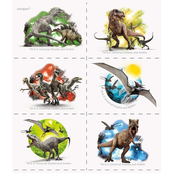 Check out Jurassic World Tattoos (4 Sheets) - Cheap Individualized Decorations…