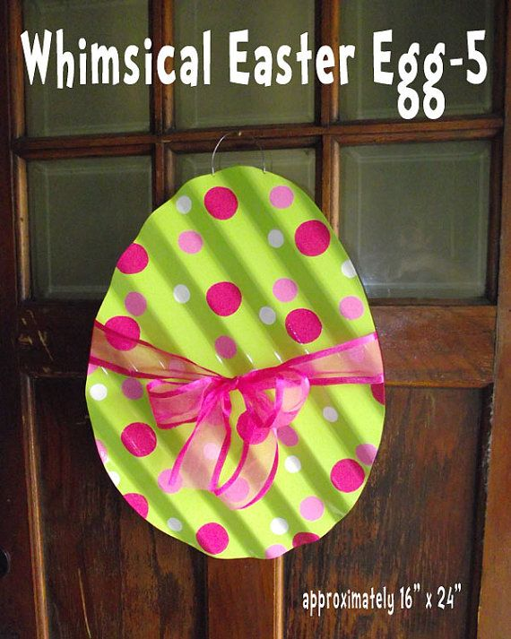 Egg Hanging Easter Egg Door Wall Decor Decoration W Bow