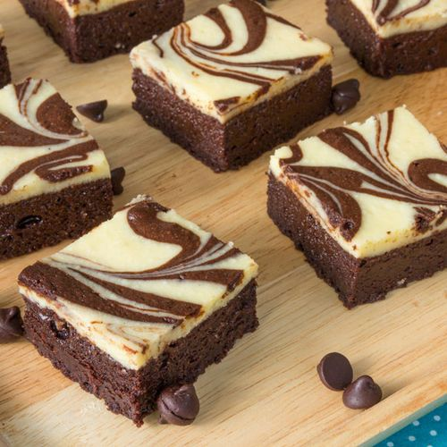 Saftige Low Carb Schoko-Vanille-Brownies