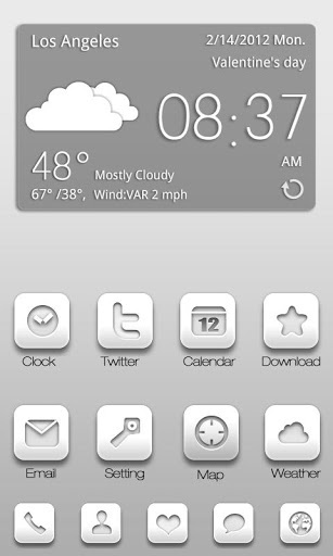 Android Launcher | ZNIN GO Launcher Theme v1.0 (Android Theme)