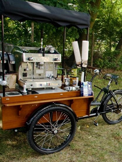 Das Kaffeefahrrad, Leipzig, Germany. Amesone bike/coffee trailer fit out!