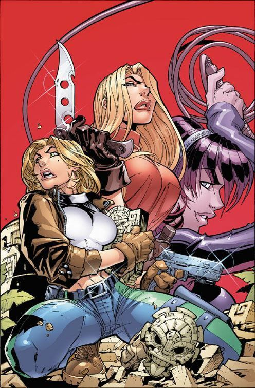 Danger Girl Cover//Joe Madureira/M/ Comic Art Community GALLERY OF COMIC ART