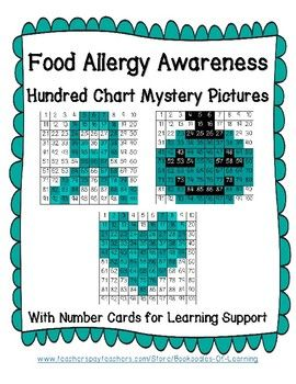 Bring Food Allergy Awareness Month (May) and Week (May 13-19, 2018) and the Teal Pumpkin Project for Halloween to your classroom learning with these three Food Allergy Awareness Hundred Chart Mystery Pictures. Your students will practice number identification and counting skills while building awareness of Food Allergies/The Teal Pumpkin Project, and the colors and symbols attached to Food Allergy Awareness.