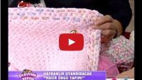 Kadife Bebek Yününden  Hasır Örgü Videosu