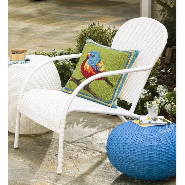 Ivy Bronx Lundell Wicker Patio Chair With Cushions Reviews Wayfair Wicker Patio Chairs Chair Patio Chairs