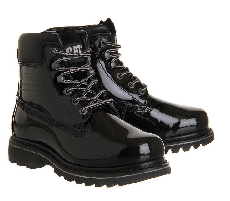 Buy Black Patent Leather Caterpillar Bruiser Boots from OFFICE.co.uk.