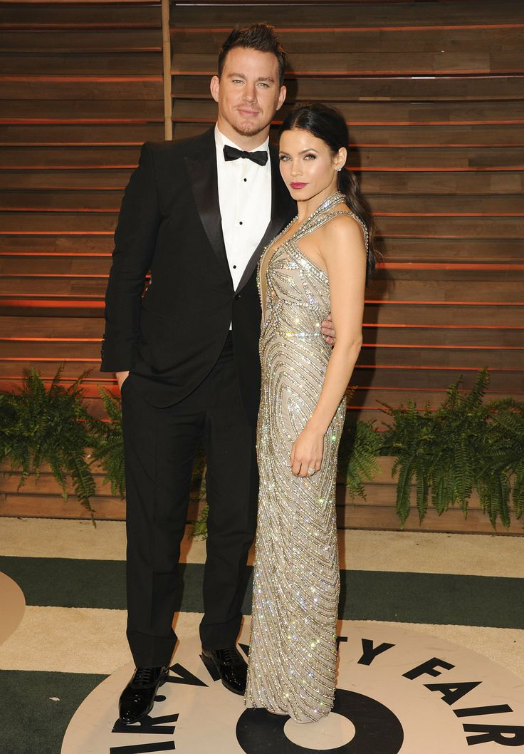 Channing Tatum and his wife, Jenna Dewan, cozied up at the Vanity Fair Oscars party
