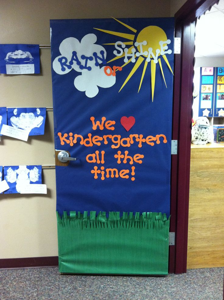 Classroom Door Decoration Ideas For Preschool ~ Door decoration for april a month full of rain showers