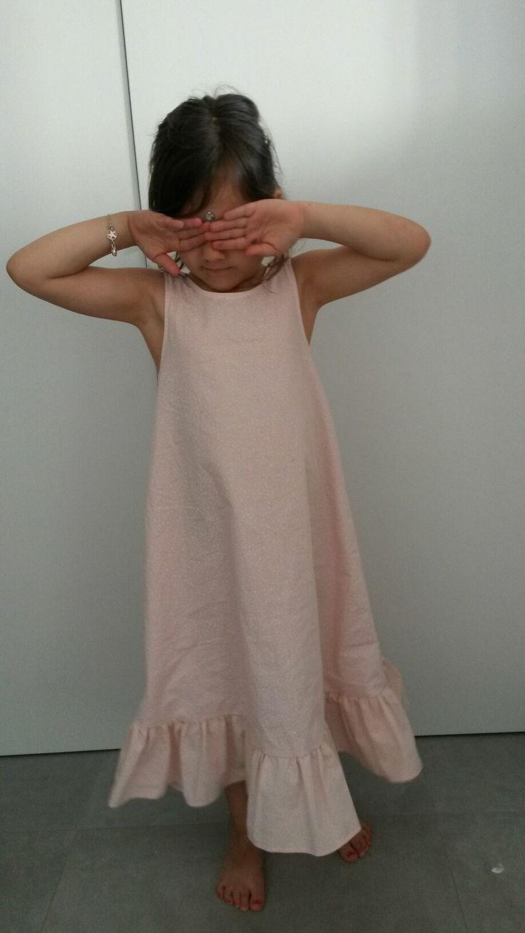 Chemise de nuit été rose pour Sacha - patron robe trapèze des intemporels