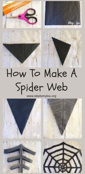 How to make a paper spider web! Easy step by step tutorial that - spider web decoration for halloween