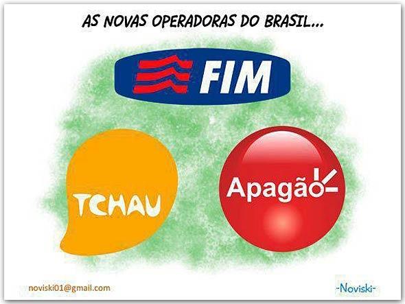 Logotipos das operadoras Claro, Oi e TIM alterados em brincadeira feita na web