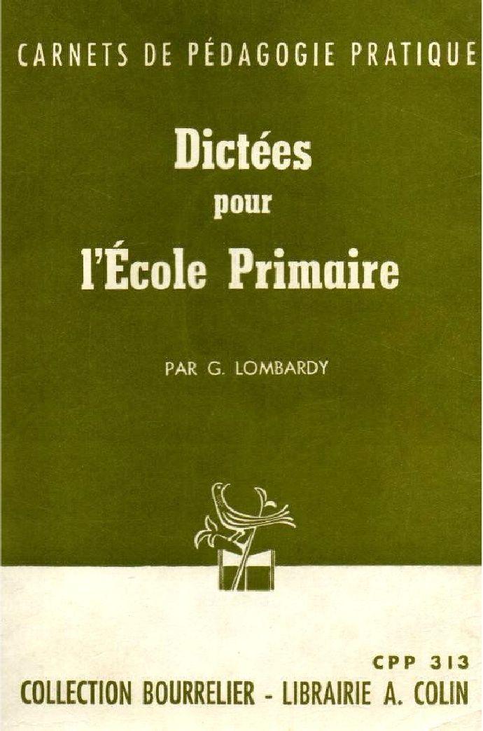 Lombardy, Dictées pour l'école primaire CM (Bourrelier)