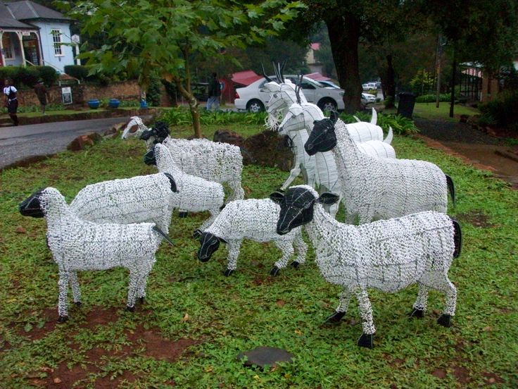 beaded wire sheep and goats - South Africa Adorable!