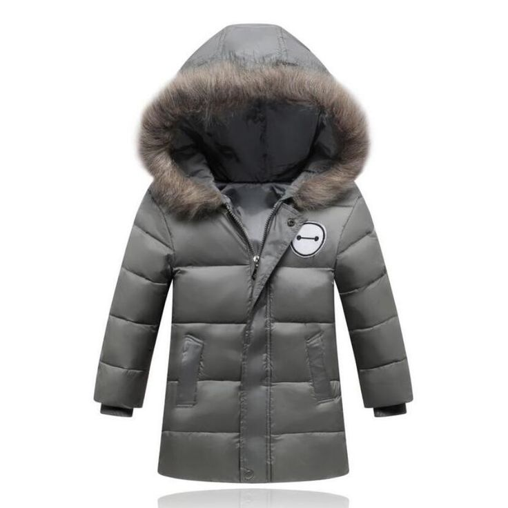 41.31$  Watch now - http://ali0nv.worldwells.pw/go.php?t=32751043555 - 2016 New Children Down/Parkas 4-12 Years girls duck down jackets kids baby winter outwear hooded casual girls long coats