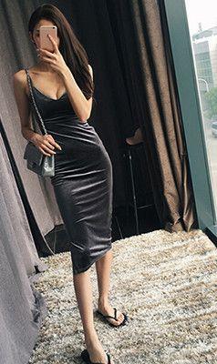 Women Sexy Velvet Dress