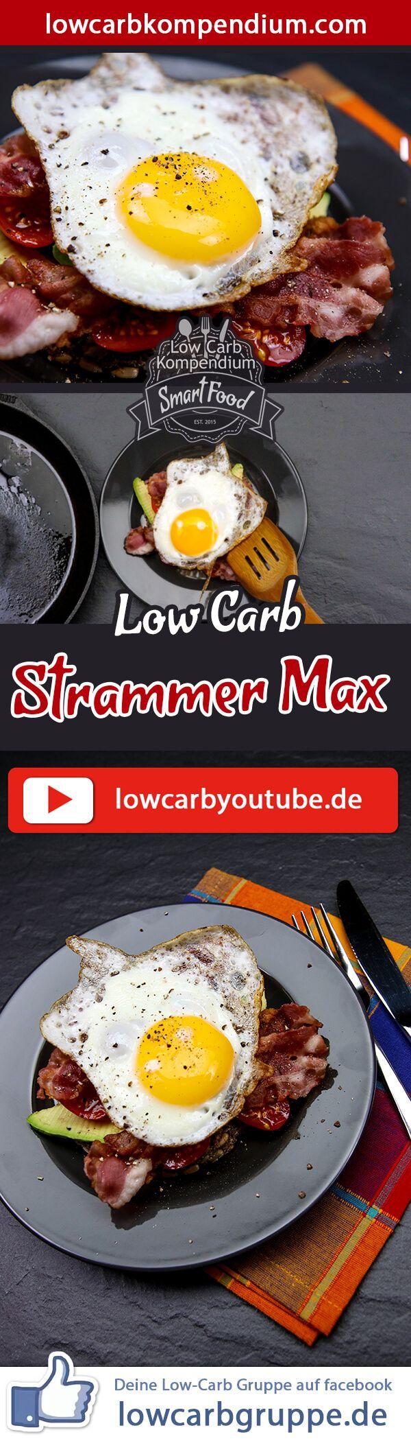 (Low Carb Kompendium) – Der Stramme Max ist ein simples Gericht, das nie fehl am Platz ist! Dieses Rezept zeigt dir, wie du eine fast genau so simple Low-Carb Variante des klassischen Brot-Gerichtes zauberst.    Und nun wünschen wir dir viel Spaß beim Nachkochen, LG Andy & Diana.