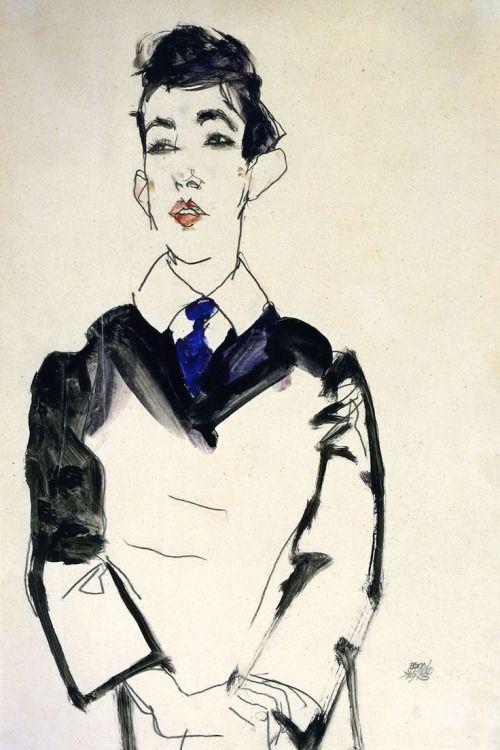 "thevisualvamp: "" urgetocreate: "" Egon Schiele, Portrait of a Young Man…"