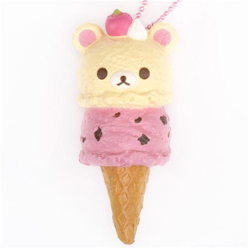 Korilakkuma Ice Cream Squishy Cellphone Charm Rilakkuma