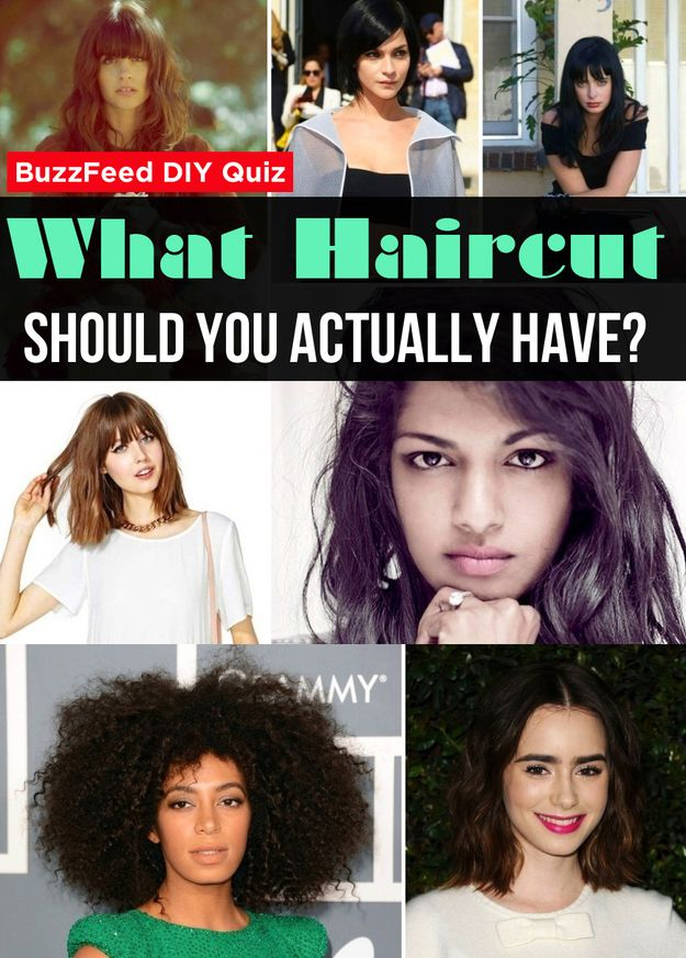 What Haircut Should You Actually Have. Just a fun quiz I got long bob but I'm too scared to try it