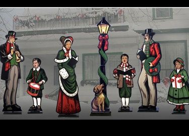 christmas caroler patterns | Life Size Victorian Wooden Christmas Carolers yard art patterns