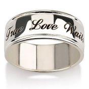 Jaqn980 - Sterling Silver True Love Waits, personalized words inside R780