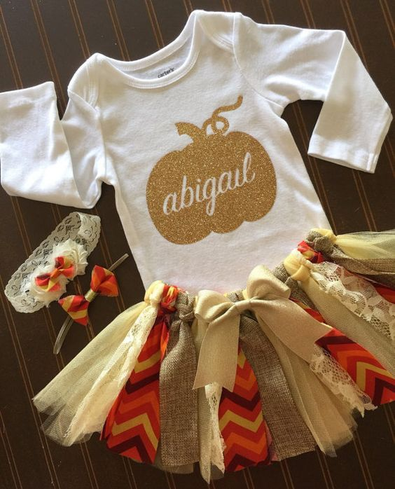 Thanksgiving Baby Girl Outfit, Thanksgiving Tutu Outfits, Thanksgiving Halloween, Thanksgiving Baby Craft, My First Thanksgiving Girl, Halloween Baby Girl ...