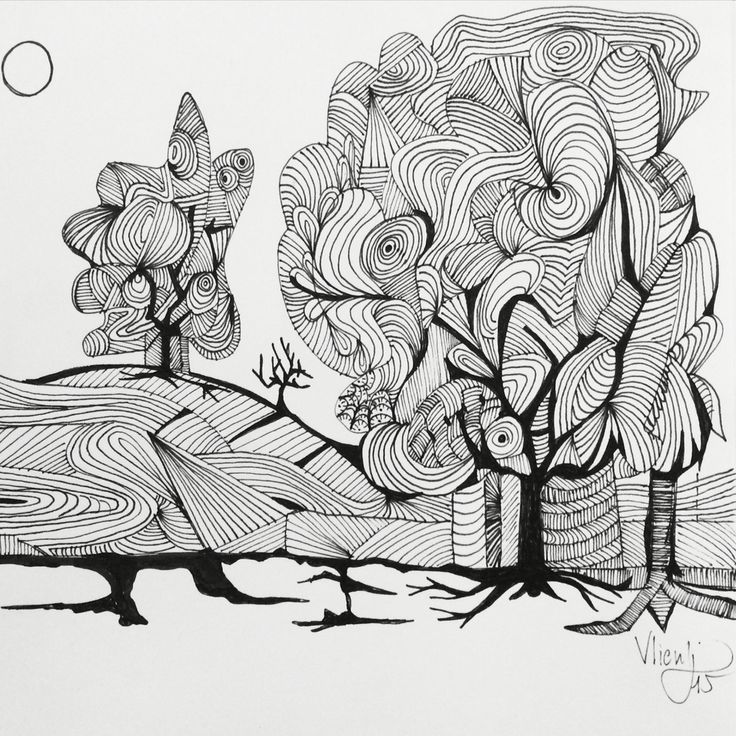 Trees. Drawing