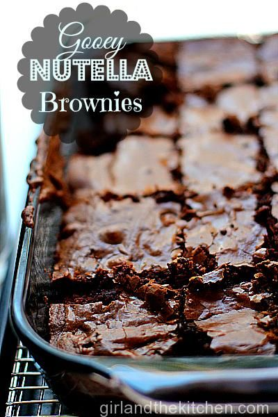 Nutella Chronicles: Nutella Fudge Brownies