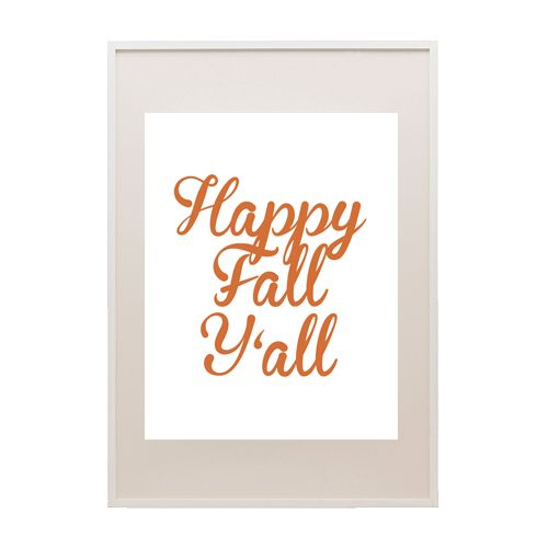 Happy Fall Y'all Printable Art | Printable Party Decor
