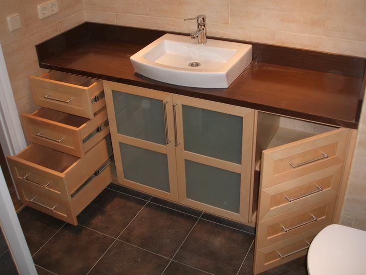 8 best muebles baño images on pinterest | bathroom furniture, home ... - Muebles De Bano A Medida Barcelona
