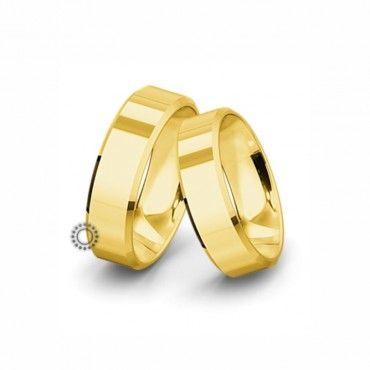 Βέρες γάμου Saint Maurice Classic κίτρινος χρυσός πλάτους 7.0mm επίπεδες εξωτερικά & ανατομικές   Βέρες αρραβώνα Saint Maurice ΤΣΑΛΔΑΡΗΣ στο Χαλάνδρι #SaintMaurice #βερες #γαμου #χρυσος #rings