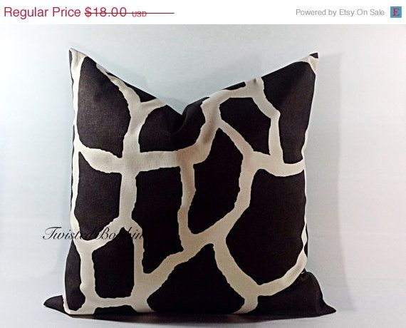 SALE ENDING SOON Brown Pillows giraffe by TwistedBobbinDesigns