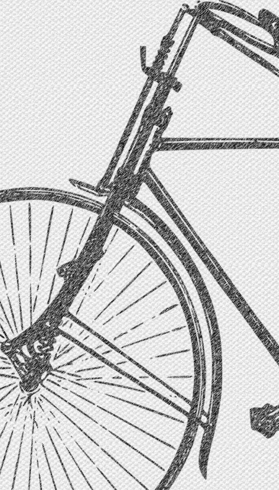 Set Of 2 Print, Bicycle Print, Bike Print, Vintage Wall