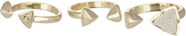 Kendra Scott Brennan Ring Set, Gold (perfect for stacking!)