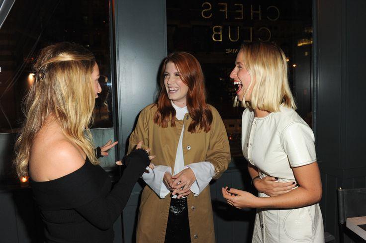 Amber Venz Box, Whitney Wolfe, and Misha Nonoo sharing a laugh.