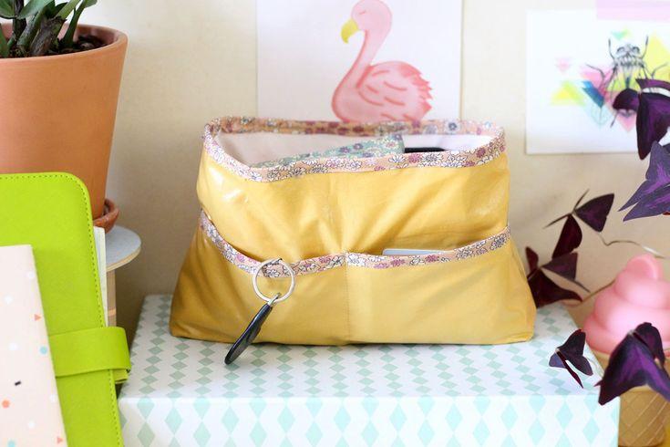 DIY organiseur de sac en tissu enduit Les DIY Frou-Frou x Mymy Cracra