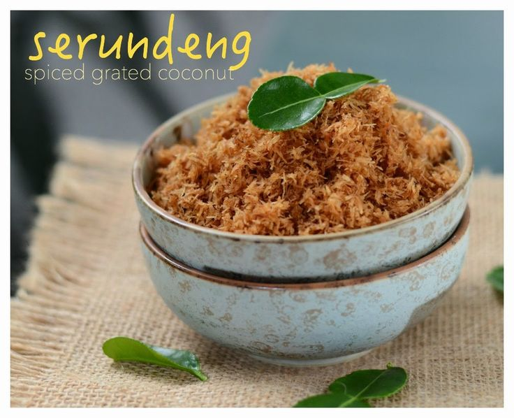 Indonesian Medan Food: Serundeng (Spiced Grated Coconut)