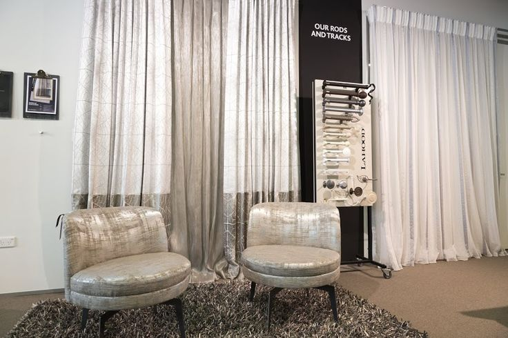 Contrast Banded Curtain fabric: Solana. Sheer linen fabric: Lino Metallico. Swivel Chair fabric: Marbre. www.lahood.co.nz