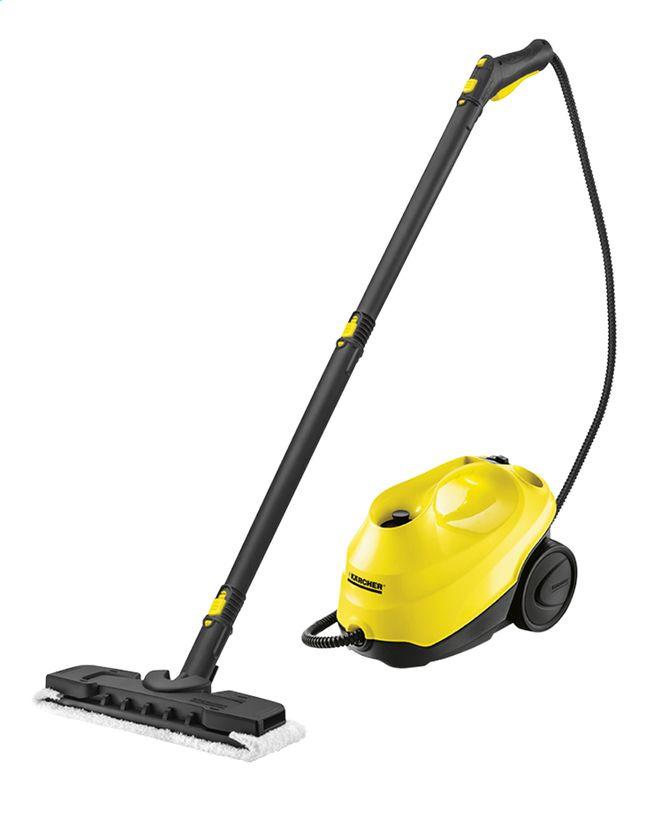 Reinig je hele huis met stoomkracht! Deze SC3 stoomreiniger van Kärcher heeft allerlei accessoires om vloeren, wanden, ramen enz. moeiteloos schoon te maken.