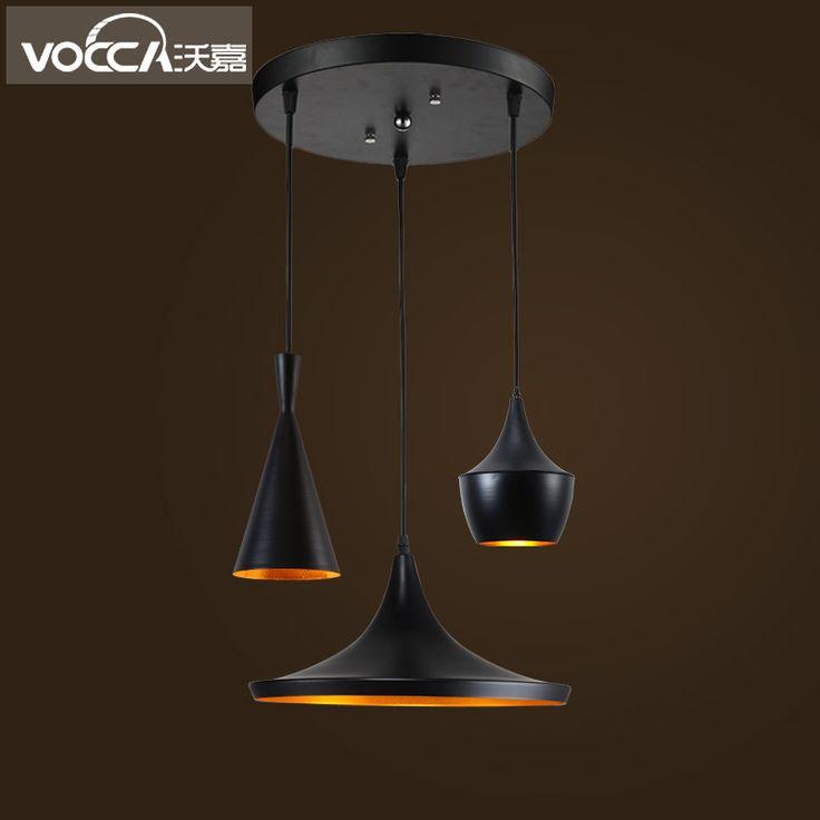 Wojia Nordic creative loft minimalism modern dining room chandelier instrument single head industrial bar table lamp