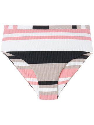 Achetez Asceno bold stripe wrap bikini bandeau.