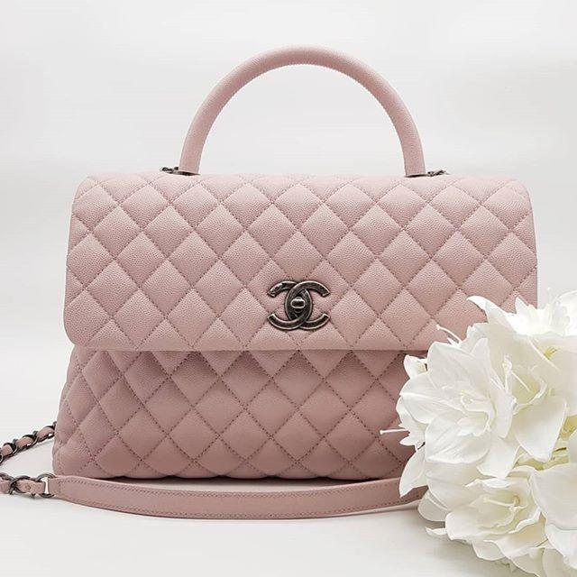 3ff05379600 $5500 wire. New Chanel Coco Handle Medium Sakura Pink Caviar ...