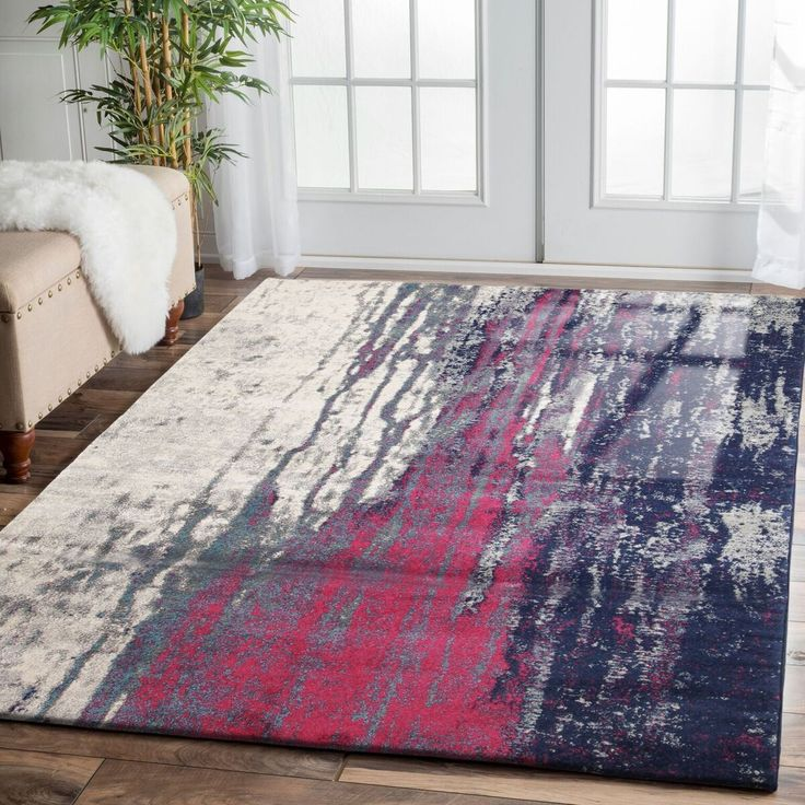 Our Bacau Multi Colour Transitional Designer Rug is a lovely modern rug featuring a vibrant abstract burst of colour: