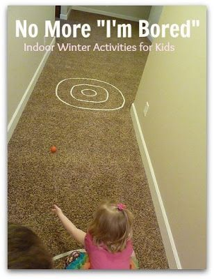 Great rainy or snowy day activities for youngins. The tape thing and lazier obstacle course, awesome!
